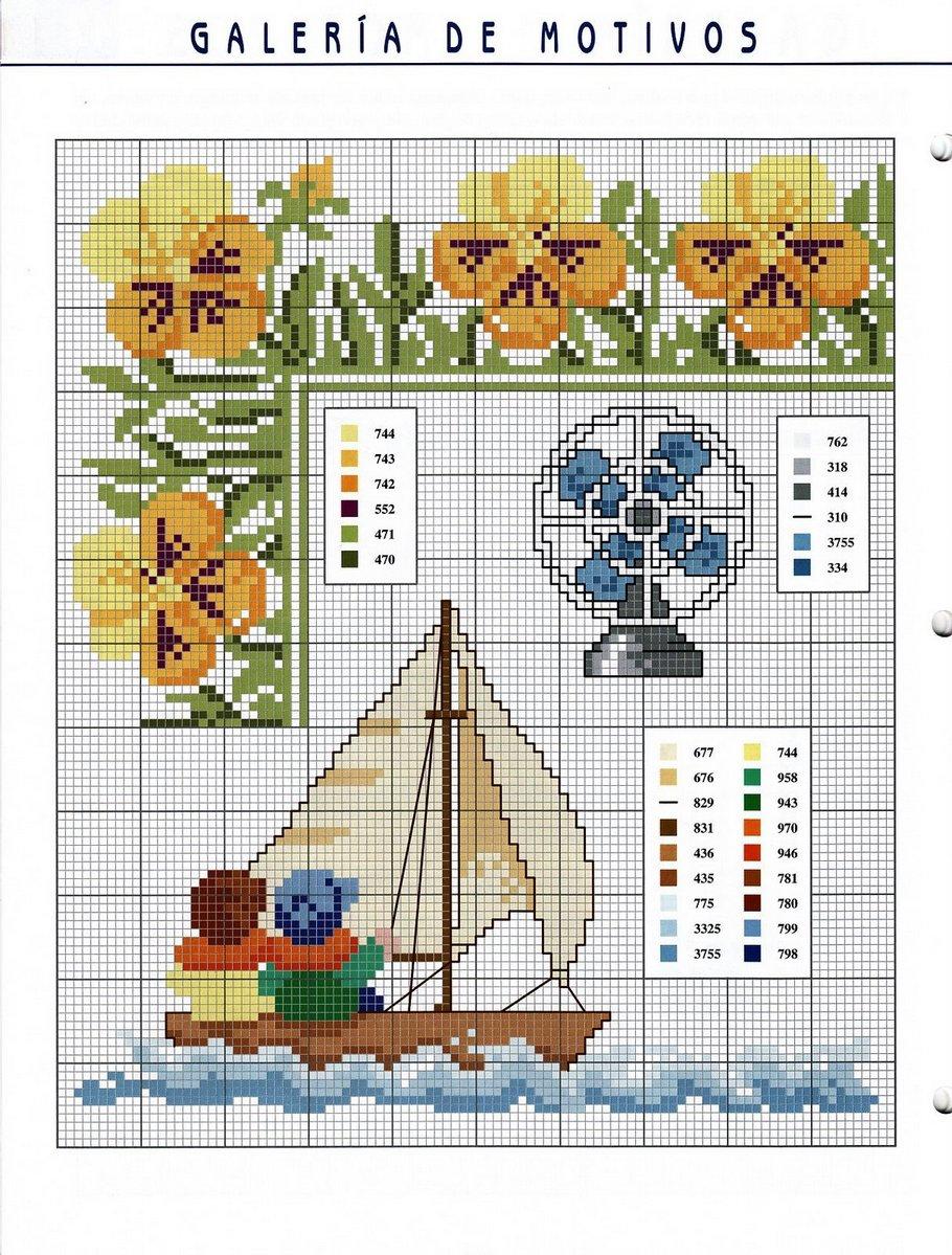 Цветы и Растения » Схемы вышивки крестом, крестиком 27